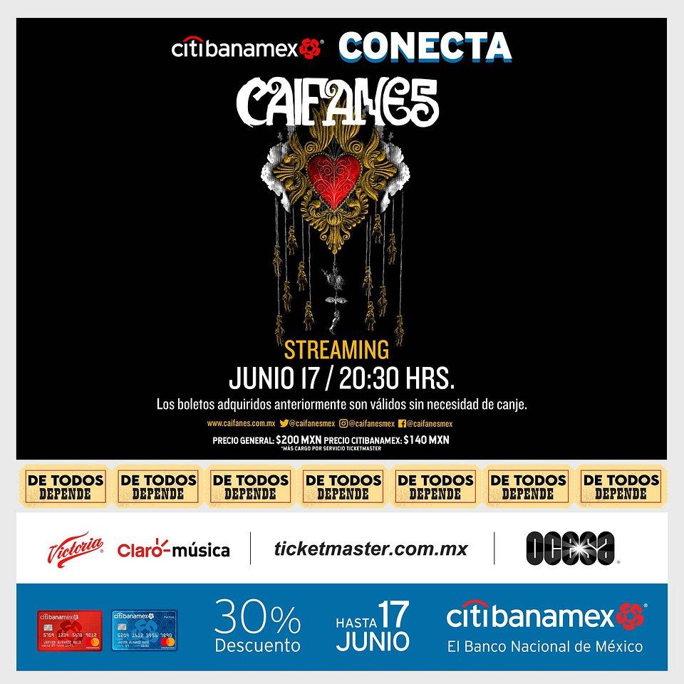 Caifanes, anuncia nueva fecha de su concierto vía streaming